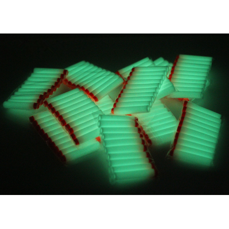 Balle de nerf multicolors ou phosphorescentes 10 pcs *236
